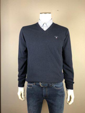 Gant Pullover lambswool v-neck marine
