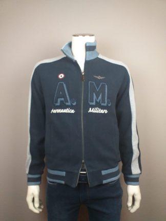 Aeronautica vest met dubbele ritssluiting blauw