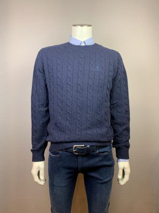 Gant pullover kabel evening blue