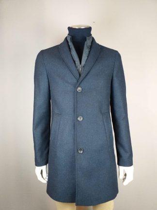 Manderley blauwe en grijze jas